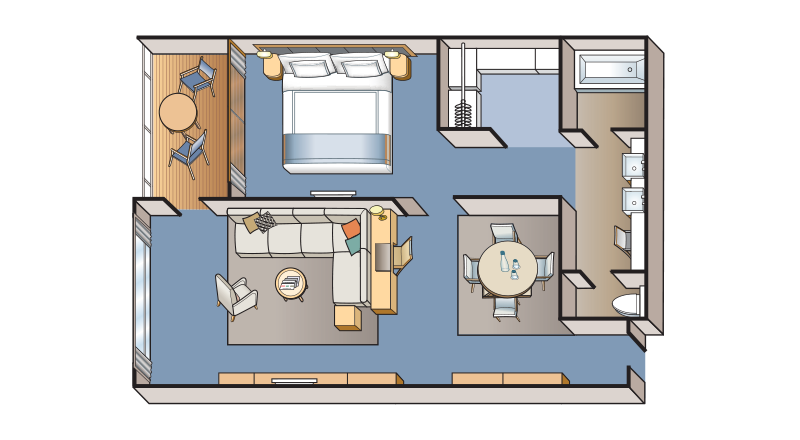 Explorers Suite stateroom floor plan