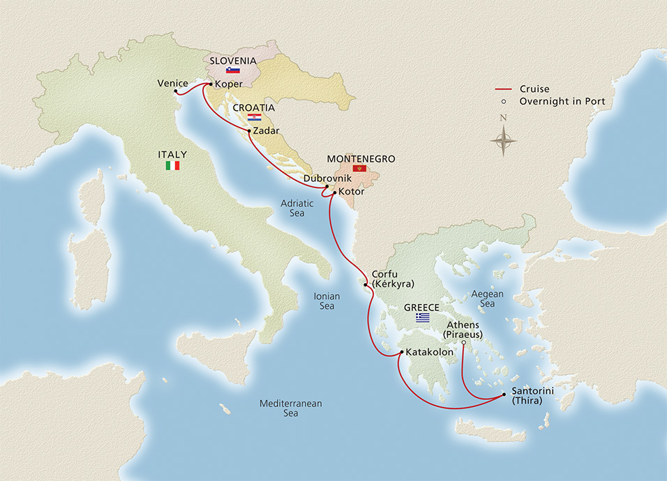 Venice to Athens Cruise Overview | Viking Ocean Cruises on map of roatan port, map of san francisco port, map of ocho rios port, map of livorno port, map of san pedro port, map of san juan port, map of civitavecchia port, map of fort lauderdale port, map of oakland port, map of charleston port, map of grand cayman port, map of salerno port, map of west palm beach port, map of long beach port, map of honolulu port, map of granada port, map of new york city port, map of dubrovnik port, map of savannah port, map of ft lauderdale port,