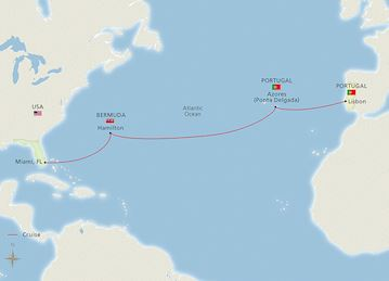 Mid-Atlantic Crossing Map