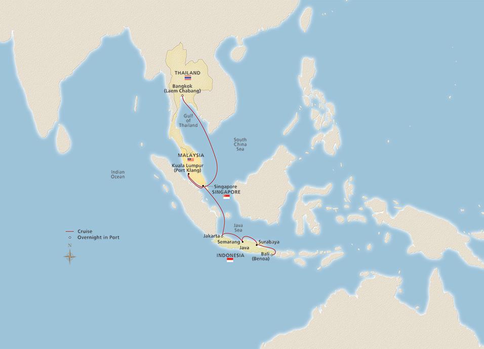 Bangkok, Bali & Beyond Map