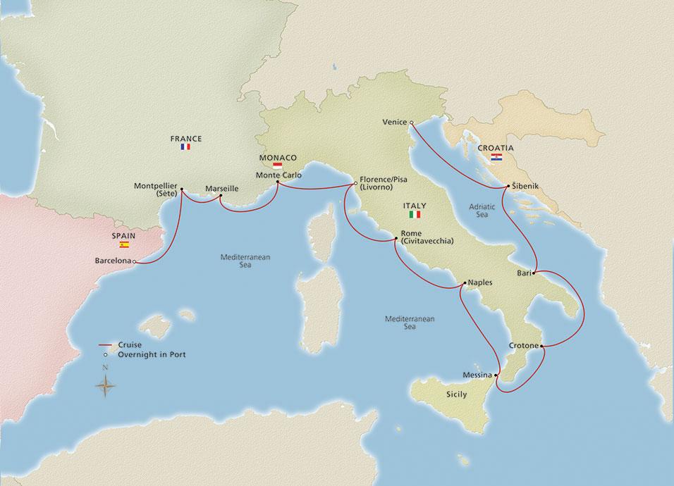 Mediterranean Cruises Viking 174 Ocean Cruises