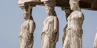 The caryatids of the Erechtheion in Athens, Greece