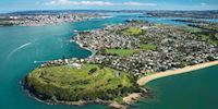 Aerial view of Auckland, New Zealand