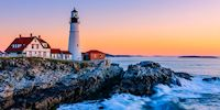 Cape Elizabeth Lighthouse in Cape Elizabeth, Maine, USA