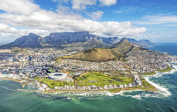 Cape Town, South Africa cityscape panorama