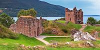 Urquhart Castle in the Highlands of Scotland