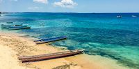 Boats on the beach of Kupang, Indonesia