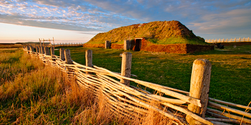 Ancient Norse building in L' Anse aux Meadows, Canada