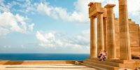 Acropolis of Lindos on the island of Rhodes