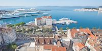 Aerial view of Split, Croatia
