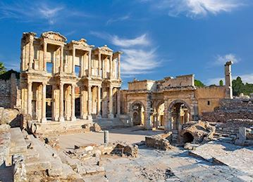 Celsus Library Ruins in Ephesus, Turkey