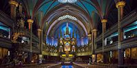 Interior of the Basilica of Notre-Dame in Montreal