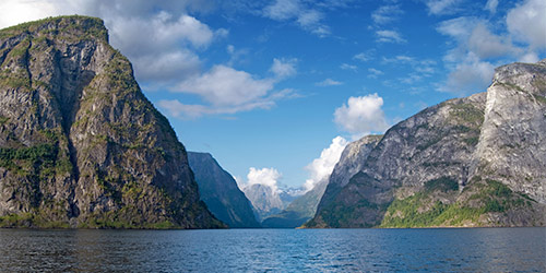 The Nærøyfjord in Norway