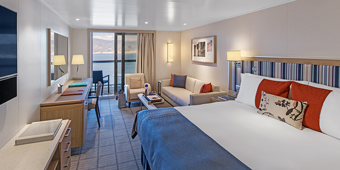 Penthouse Veranda stateroom bed room