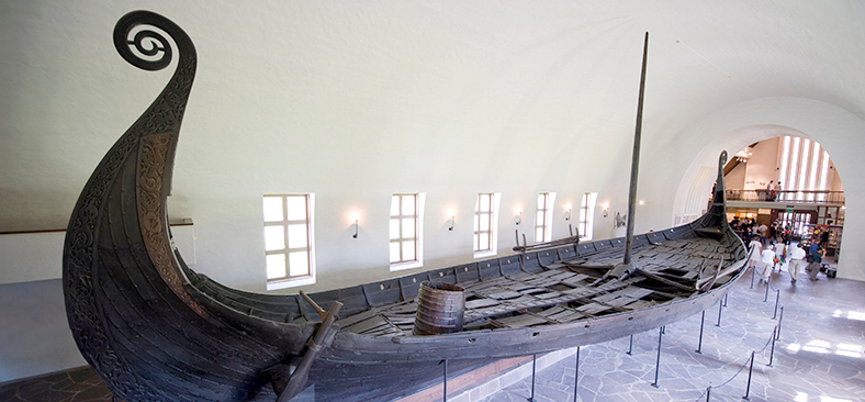 Oseberg Ship inside the Viking Ship Museum