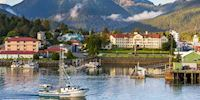 Harbor and boat in Sitka