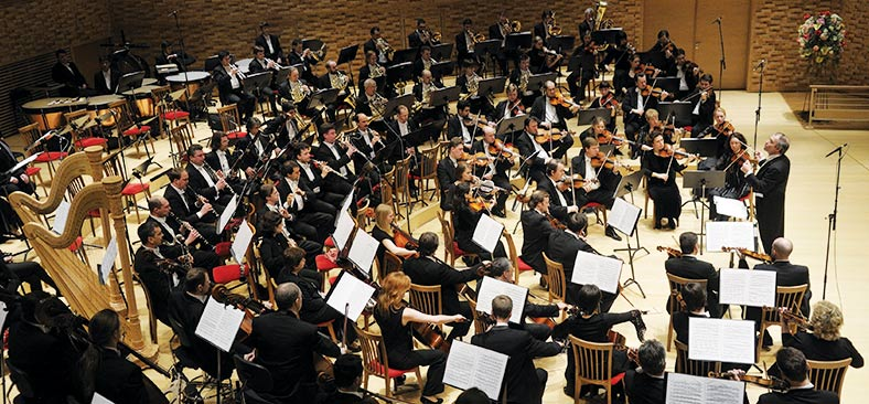 Mariinsky Orchestra performing in St. Petersburg, Russia