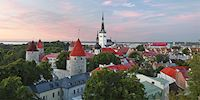 Old Town aerial view in Tallinn