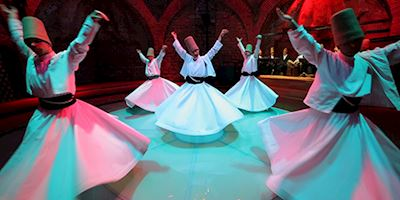 Whirling Dervishes performing in Istanbul, Turkey