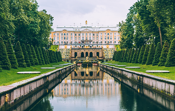 Peterhof Palace in St. Petersburg, Russia