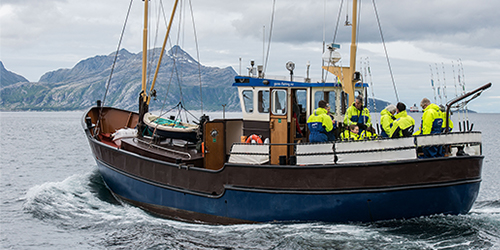 Small fishing vessel in Norway