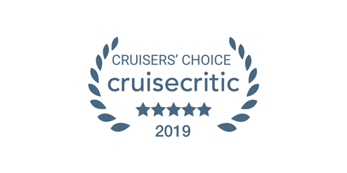 Logo of the 2019 Cruise Critic Cruisers' Choice award winner